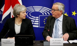 Theresa May and Jean-Claude Juncker in Strasbourg, 11 March 2019