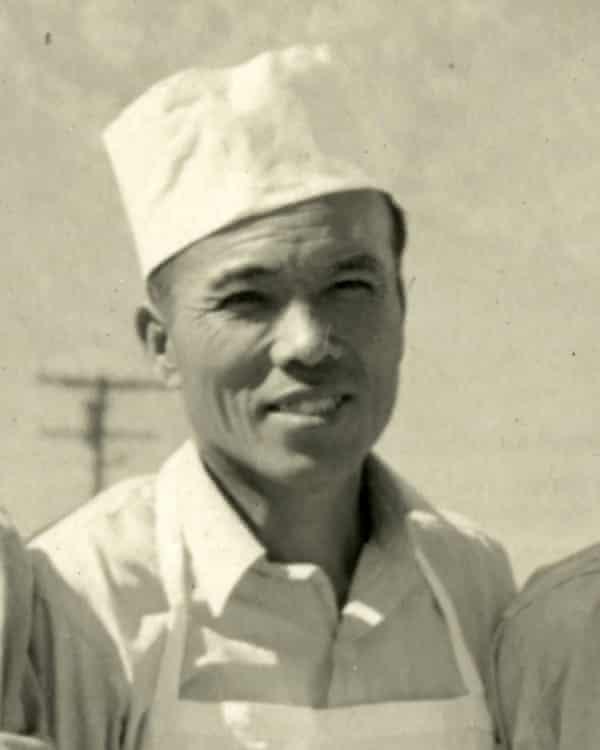 Giichi Matsumura during his incarceration at an internment camp in Manzanar, California, in an undated photo.