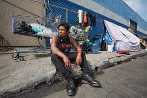 Business owners are fencing off portions of LA sidewalks, pushing out homeless people like José Luis.