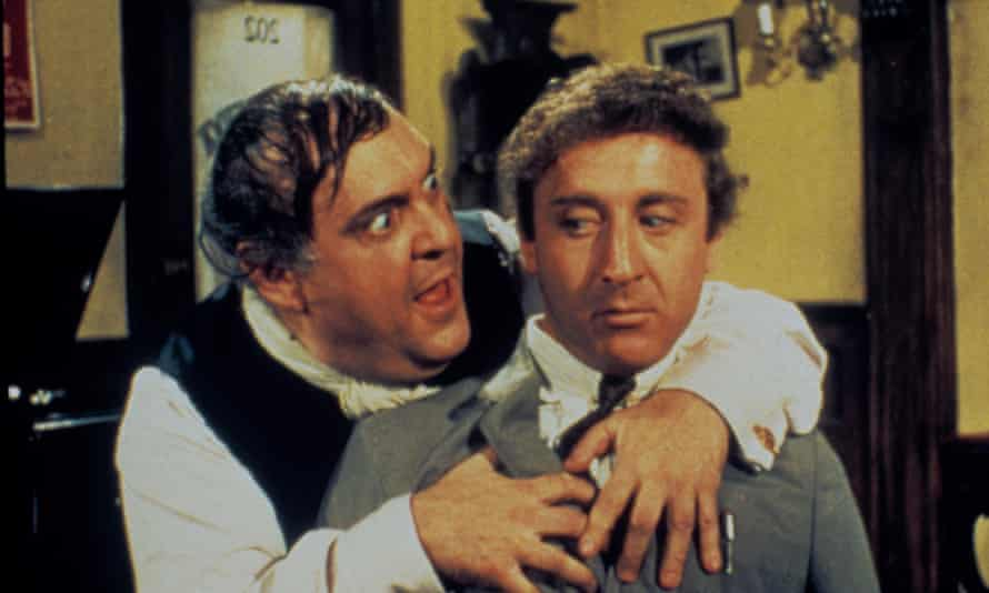 Gene Wilder, right, as the hyperneurotic accountant Leo Bloom in The Producers, 1967, with Zero Mostel