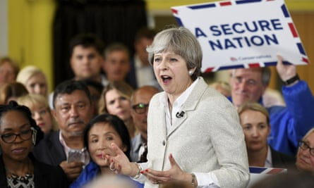 Theresa May at a campaign event in Twickenham, south-west London