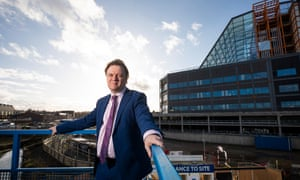 Toby Lewis, CEO of the Sandwell and West Birmingham Hospitals trust, at the site of the Midland Metropolitan Hospital, Birmingham.