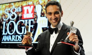 Gold Logie winner Waleed Aly with his gold and silver Logies after the 2016 Logie awards.