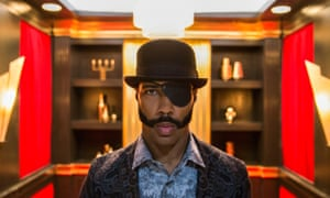 Mr Blank … Omari Hardwick in Boots Riley's Sorry to Bother You.