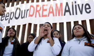 Dreamers meeting with relatives during the binational meeting at a new section of the border wall on the U.S.-Mexico border in Sunland Park in December.