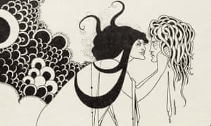 Kiss of death … detail of an illustration for Oscar Wilde's Salome.