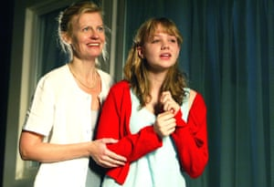 Anastasia Hille and Carey Mulligan in Forty Winks, Royal Court, London, 2004.