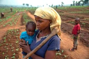 Tshikapa, Democratic Republic of Congo A Congolese woman holds her child