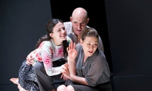 Phoebe Fox (Catherine), Mark Strong (Eddie) and Nicola Walker (Beatrice) in A View from the Bridge at Wyndham's theatre.