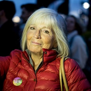 Sue Newton attended a demo in London supporting Irish people planing to return home to vote.