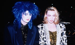 Boy George and Marilyn out clubbing in London in 1982.