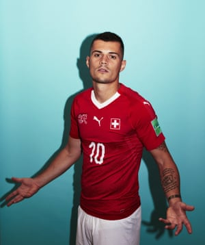 Switzerland's Granit Xhaka scored a great volley against France in the last World Cup.