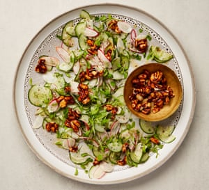 Yotam Ottolenghi's radish and cucumber salad with chipotle peanuts