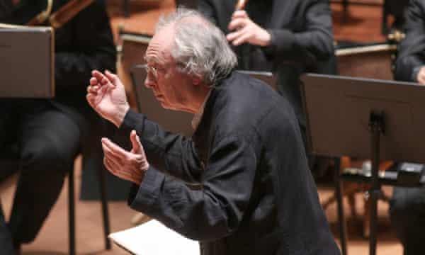 Philippe Herreweghe leading the Collegium Vocale Gent in New York in 2012.