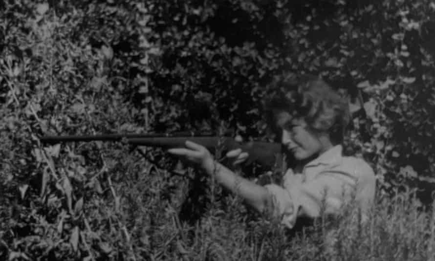 Ypi's mother during military training, circa 1968.