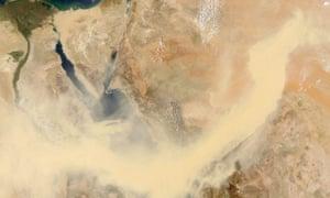 Saudi Arabia captured by Nasa's Aqua satellite