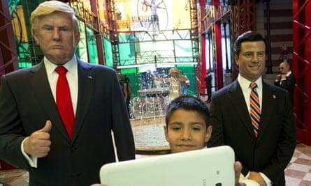 Wax replicas of Donald Trump and Enrique Peña Nieto on display in Mexico City.