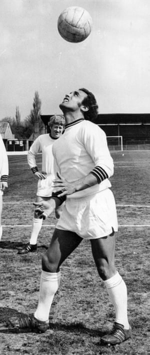 Dennis Walker with Cambridge United, for whom he signed in 1968.