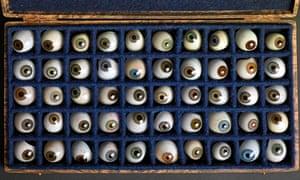 The eyes have it … Hiroshi Sugimoto: 50 Glass Eyes. Courtesy of Hiroshi Sugimoto