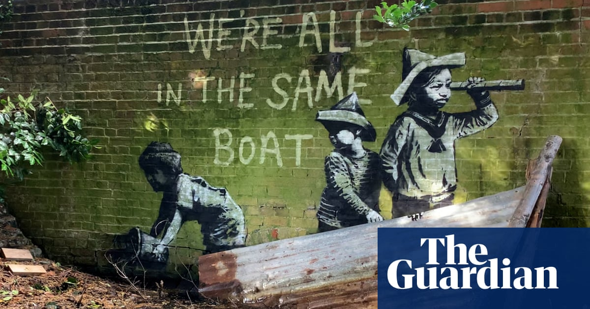 Possible Banksy street art appears in English coastal towns