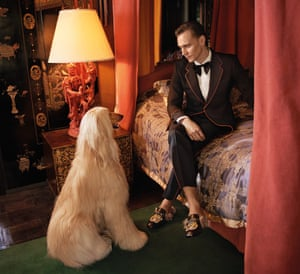 Beamed into the modern world ... Tom Hiddleston for Gucci.