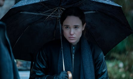 Taking cover: Page stars in the Umbrella Academy as the only non-powerful sibling in a dysfunctional family with superpowers.