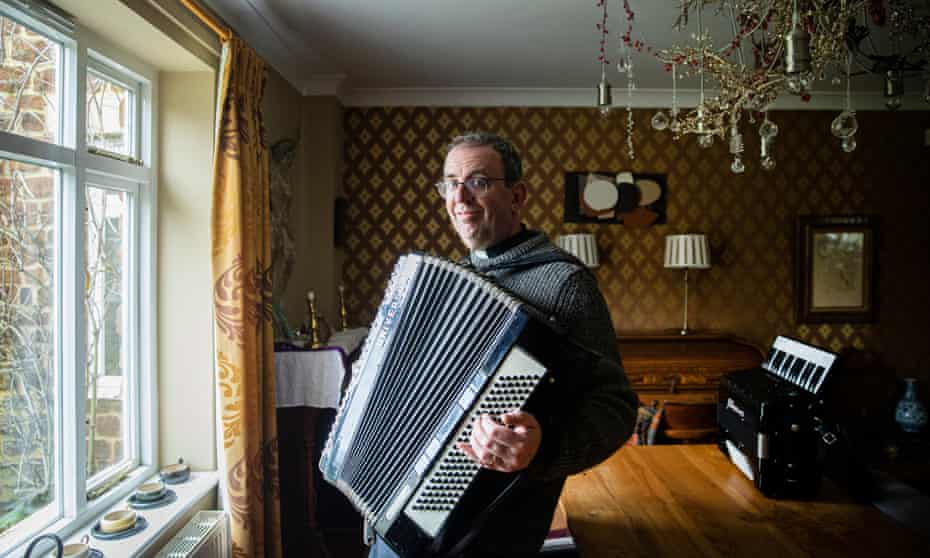 Richard Coles at his Northamptonshire vicarage.