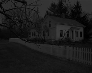 21. Untitled #20 (Farmhouse and Picket Fence I), from Night Coming Tenderly, Black (2017)
