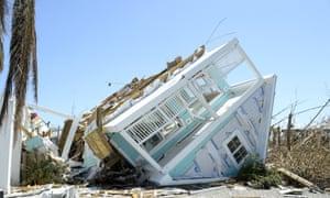 Damage to homes and property in Treasure Cay, Bahamas.