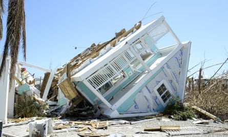 A damaged home in Treasure Cay on 9 September.