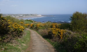 A view back towards St Andrews from the coastal path.