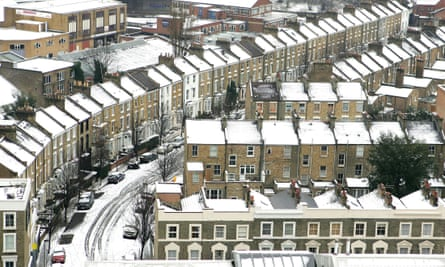 Rooftops following a snowfall