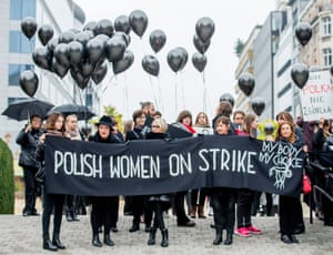 Women in Poland went on strike in October 2016 to fight for entitlement to legal abortion, sex education and contraception.