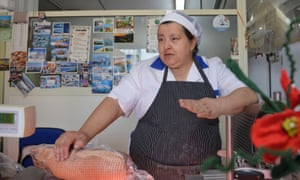 'Annamaria Iacovone, who runs the butchers in Roccasicura, says it is difficult to maintain a business.