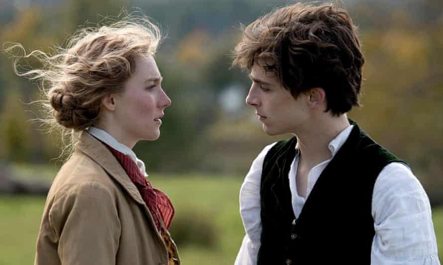 Saoirse Ronan and Timothée Chalamet in Greta Gerwig's Little Women.