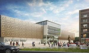 artist's rendering of the proposed Dagenham studios