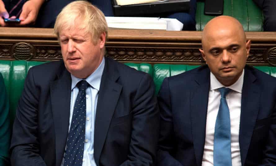 Boris Johnson and Sajid Javid.