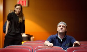 Louisa Krause and Matthew Maher in The Flick