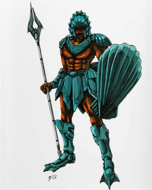 Figure from The Book Of Drexciya, a graphic novel by Abdul Qadim Haqq and Dai Sato