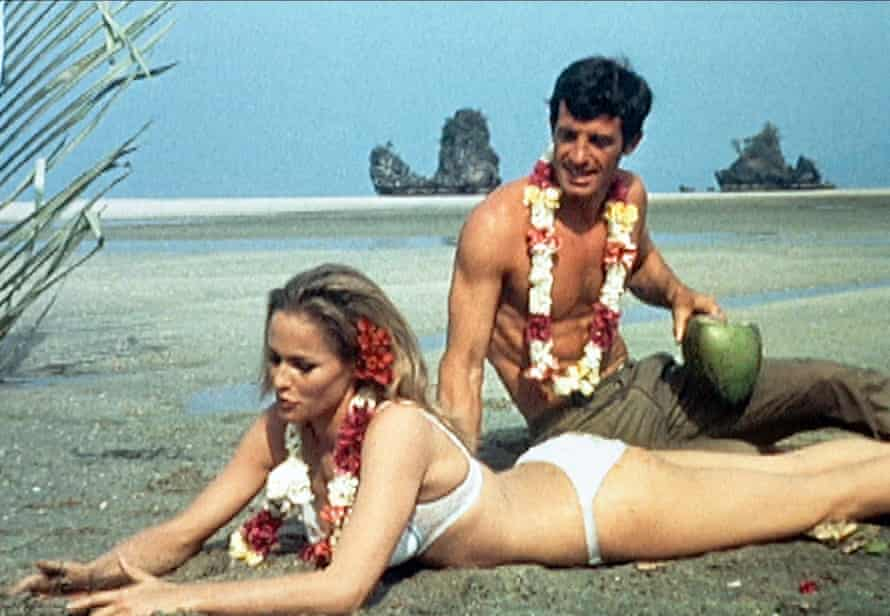 Jean-Paul Belmondo and Ursula Andress started an affair while they were filming Up to His Ears, 1965.