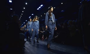 All of the Dior models wore leather berets, as did Rihanna in the audience.
