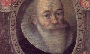 detail from portrait of Johann Valentin Andreae.