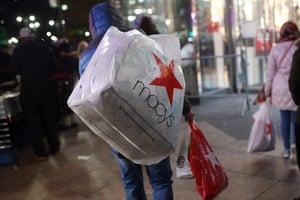 New York, US Shoppers make their way home from Macy's department store