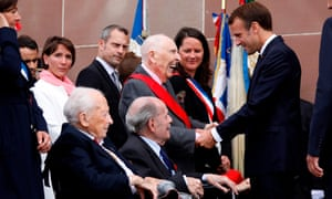 Emmanuel Macron meeting Daniel Cordier in 2018.
