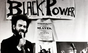 Black Power leader Michael X speaking at a rally in London in 1972.