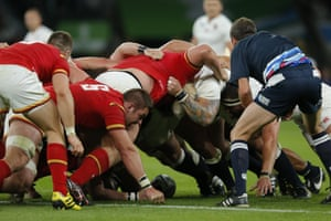 Another scrum as Wales attempt to reduce the deficit