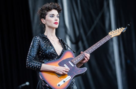 St Vincent performing at a music festival in San Francisco last August.