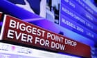 Australian and Asian stock markets slide after Dow suffers biggest one-day points fall