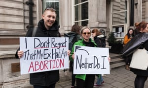 A pro-choice protest On International Women's Day in London.