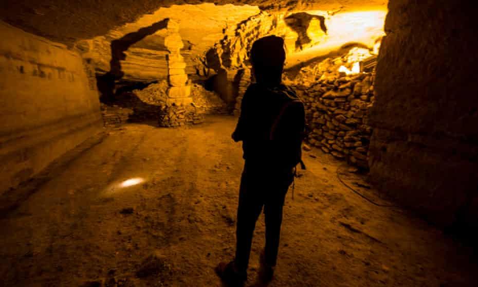 Inside an abandoned quarry